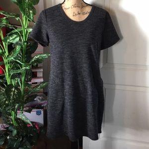 32 Degrees Pullover Fleece Dress Size Med Charcoal
